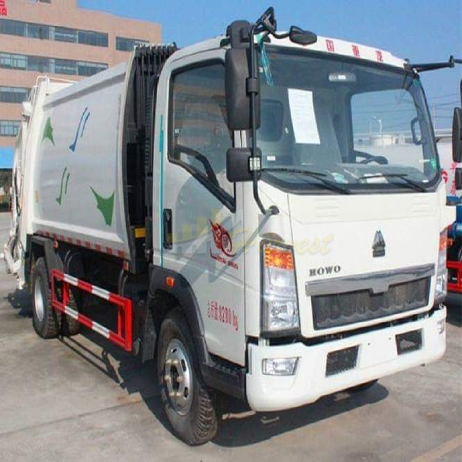 HOWO 3-5ton Small Capacity of Compactor Garbage Truck
