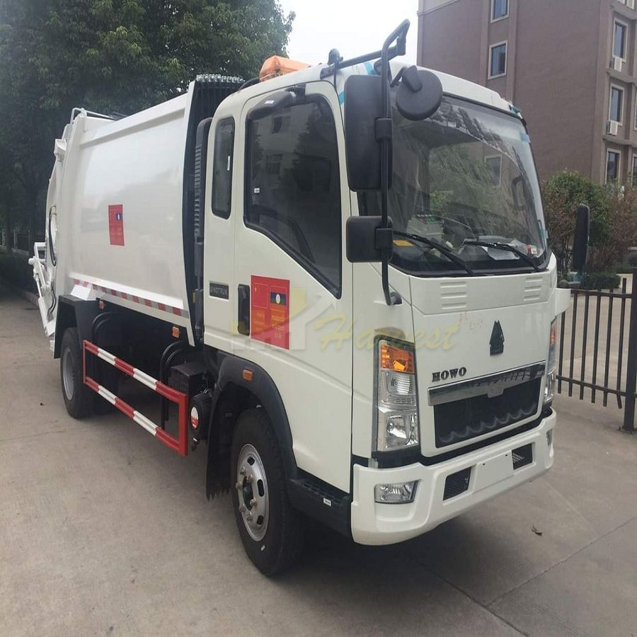 Sinotruk HOWO 6 Wheelers 5m3-8m3 Compactor Garbage Truck for Sale