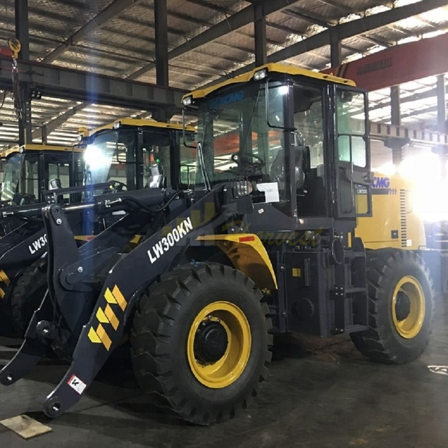 To Uzbekistan-2 Units XCMG 3t LW300KN Wheel Loader
